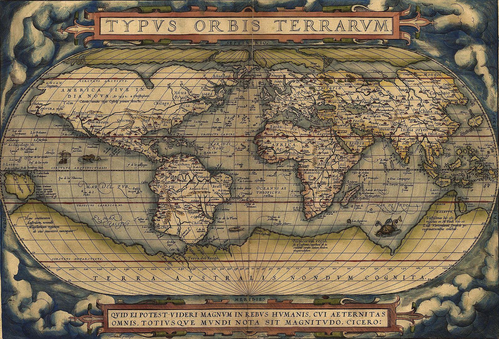 オルテリウスの世界地図