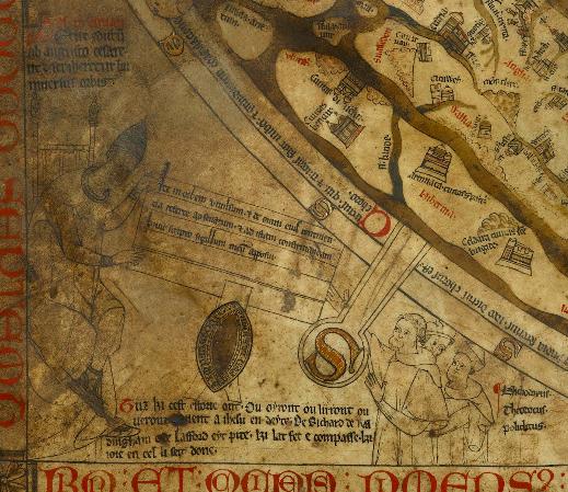 ヘレフォード図 左下の角