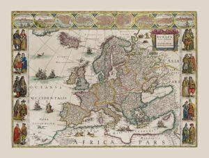 ウィレム・ブラウのヨーロッパ地図