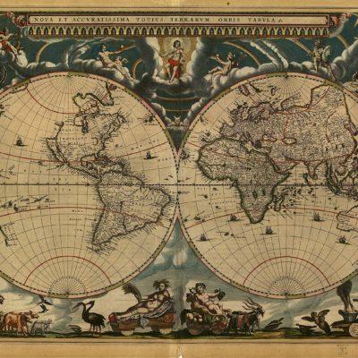 大地図帳の世界地図