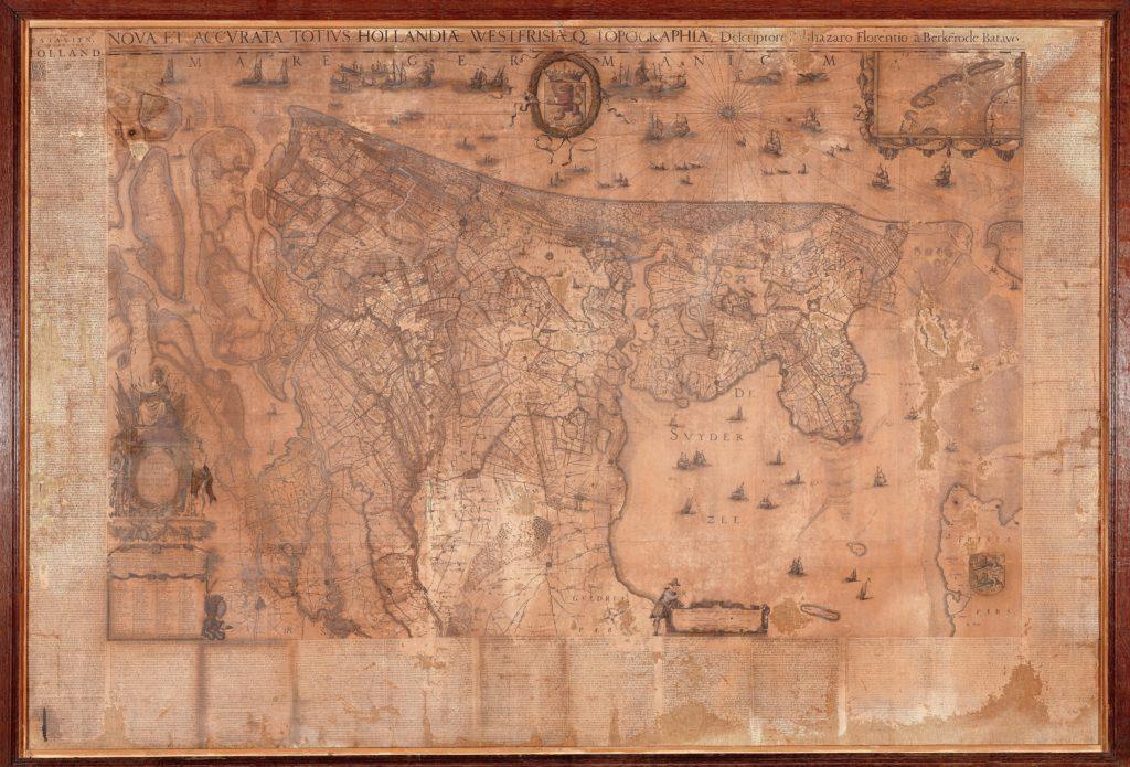 オランダと西フリースランドの地図