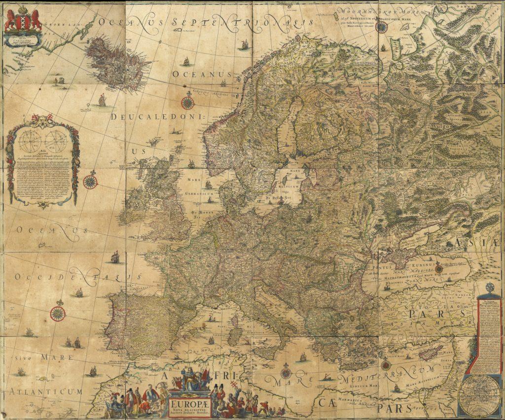 ヨドクス・ホンディウスのヨーロッパ地図
