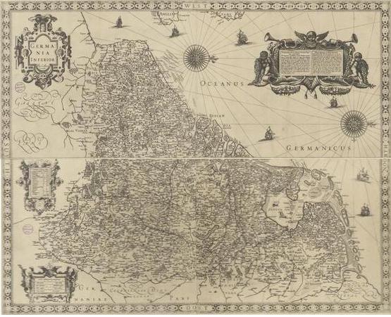 ネーデルラント17州の地図