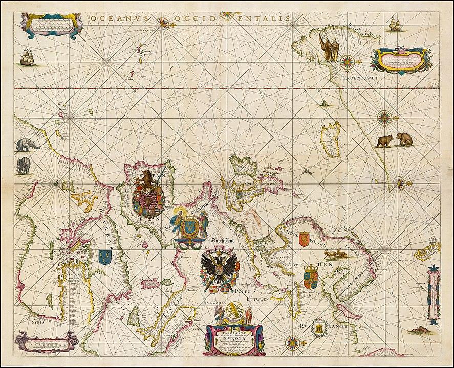 ウィレム・ブラウのヨーロッパ海図