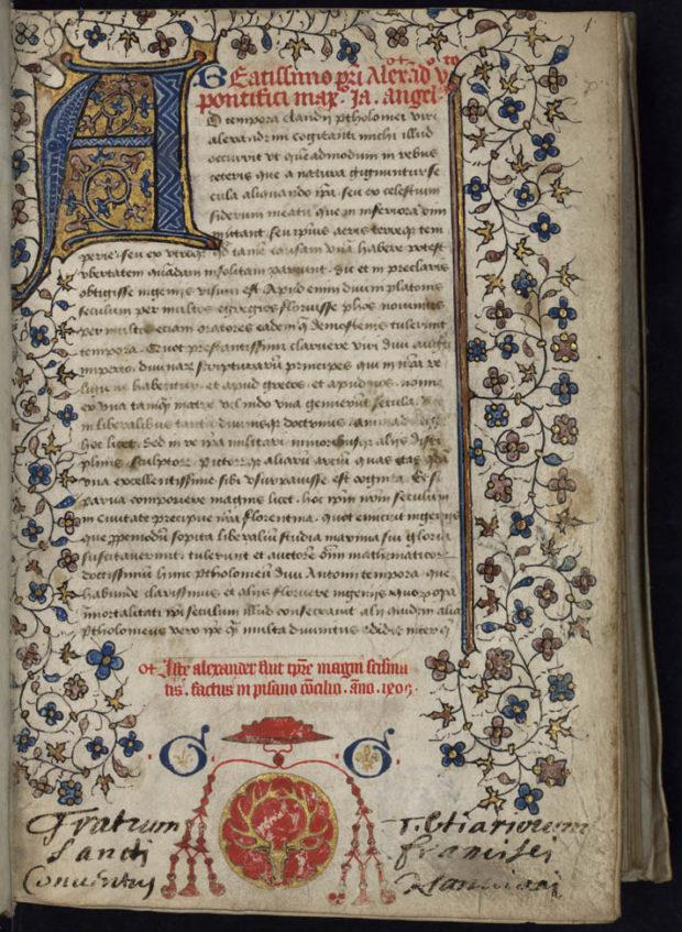 ヤコポ・アンジェロの『地理学』写本