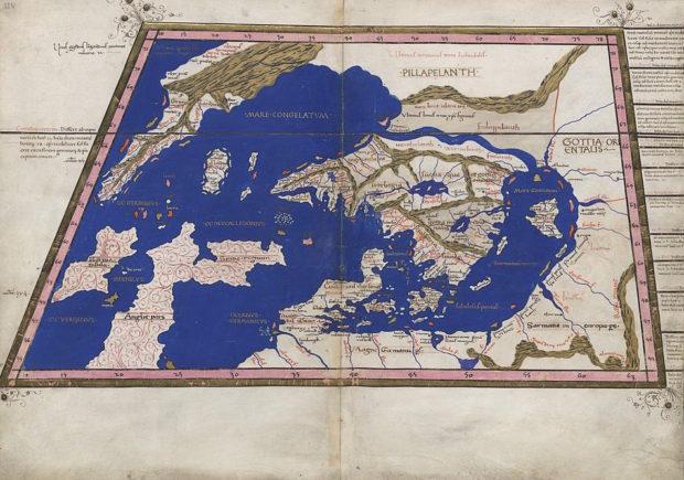 『地理学』スカンジナビア周辺図