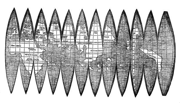 マルティン・ヴァルトゼーミュラーの舟形地図