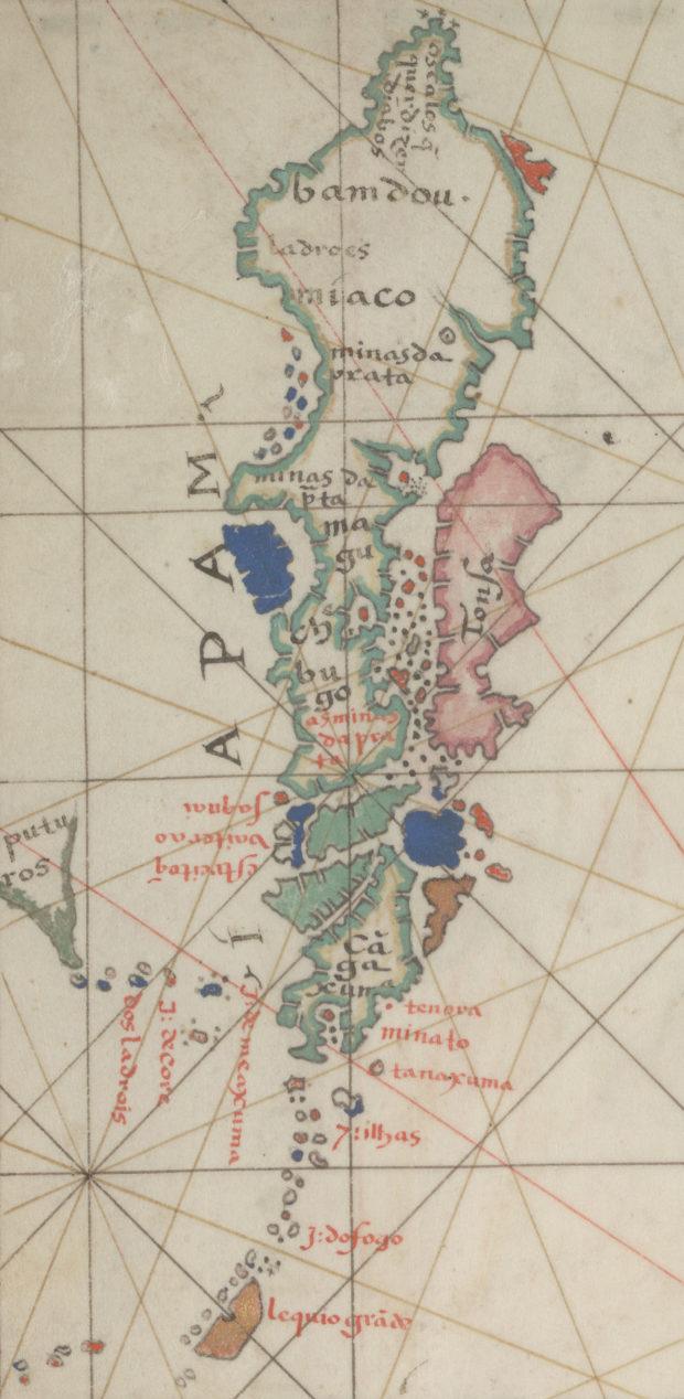 バルトロメウ・ヴェリュ西太平洋図 日本