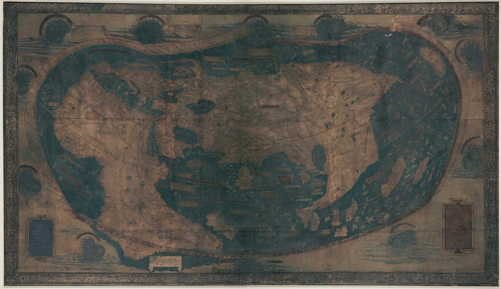 ヘンリクス・マルテルスの世界地図1489年