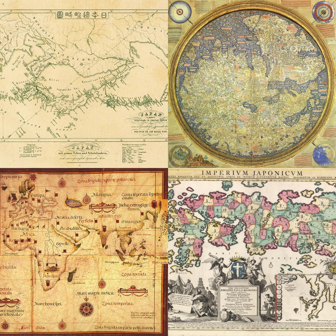 世界の古地図の中の日本②