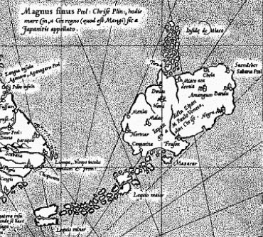 ゲラルドゥス・メルカトルの世界地図 日本