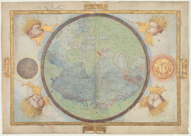 ミラー・アトラスの世界地図