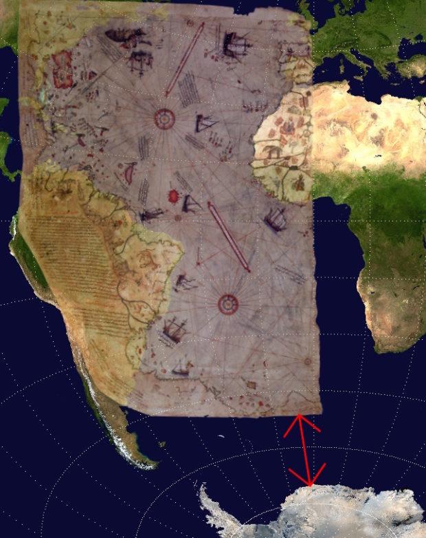 ピリ・レイスの地図と世界地図