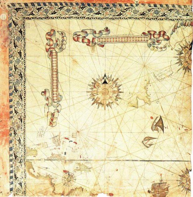 ピリ・レイスの地図(1528年)断片