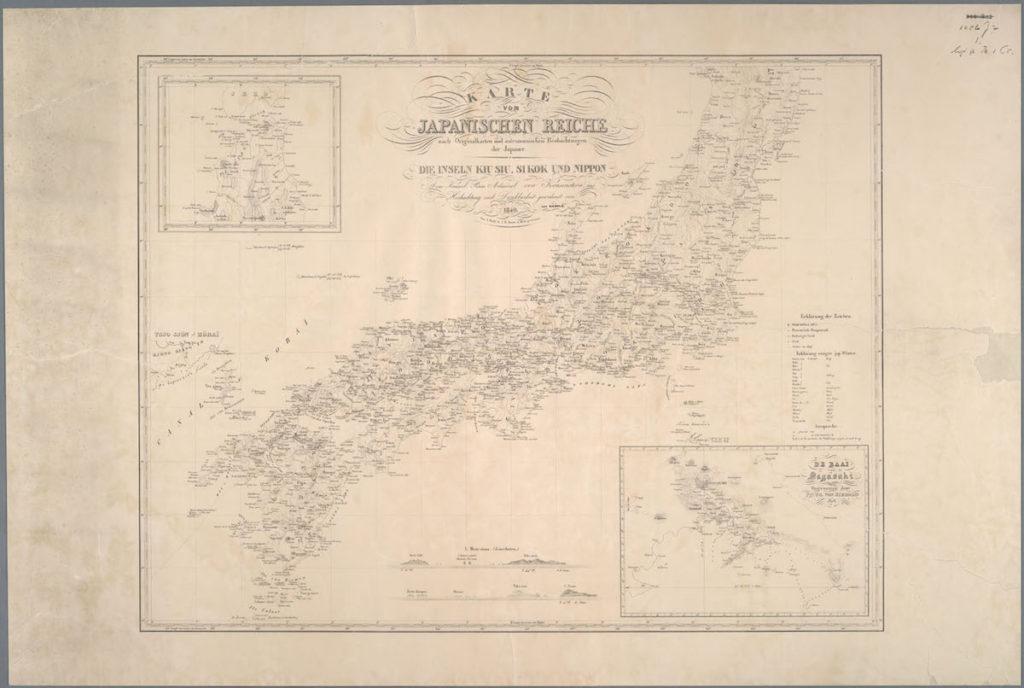 日本人作成による原図および天文観測に基づく日本地図