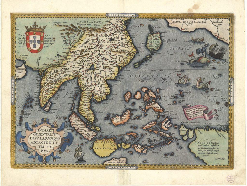『世界の舞台』東インド図