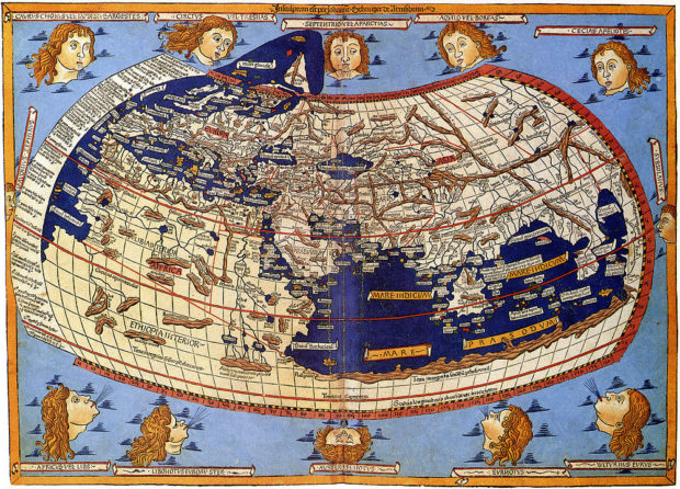 プトレマイオス図(1482年)