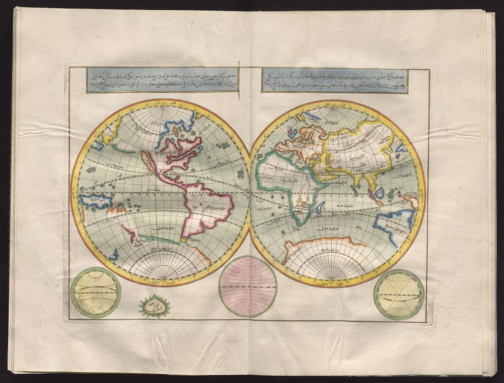 キャーティプ・チェレビーの世界地図