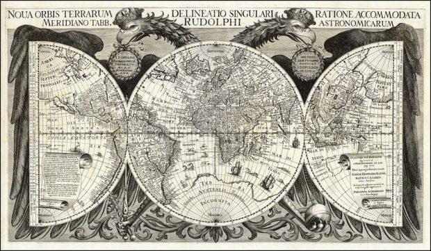ルドルフ表 地図