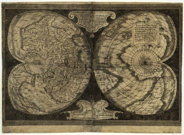 ゲラルドゥス・メルカトルの世界地図(1538年)