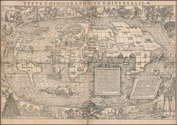 セバスティアン・ミュンスターの世界地図(1532年)