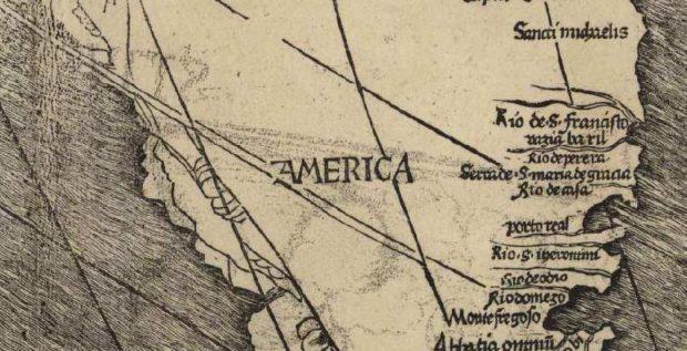 マルティン・ヴァルトゼーミュラーの世界地図 アメリカ