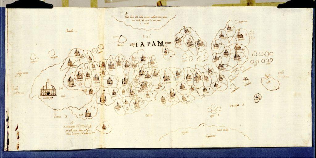 フィレンツェ国立文書館所蔵日本図