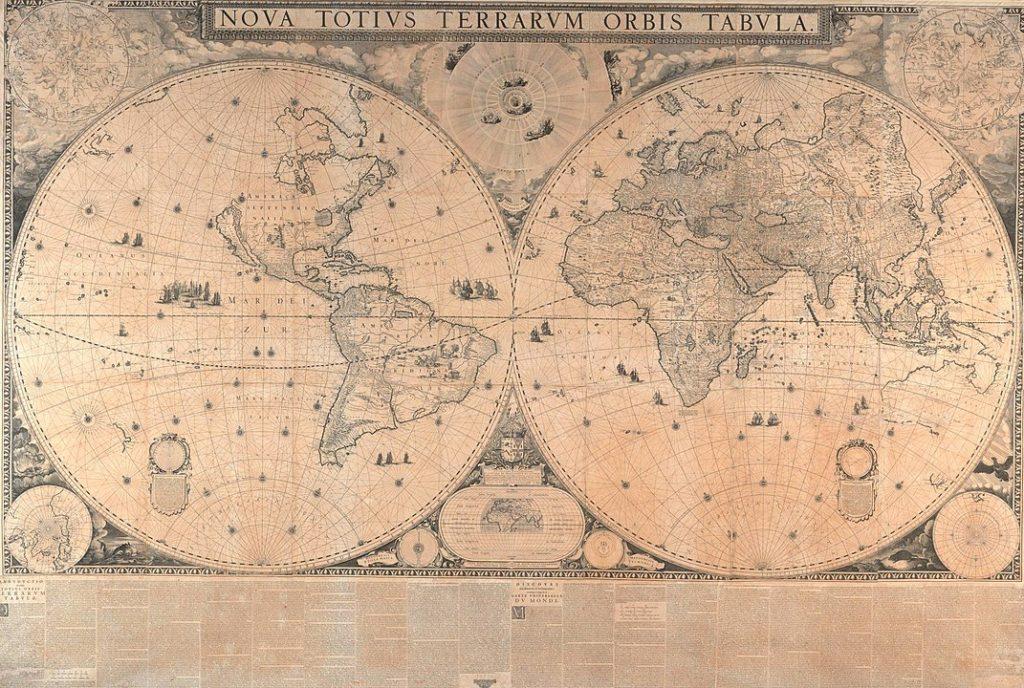 ヨアン・ブラウの世界地図 1648年
