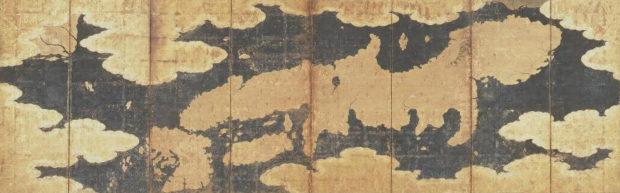 世界及日本図 八曲屏風