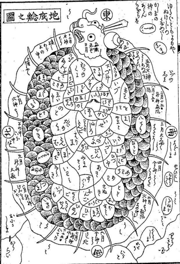 地底鯰之図