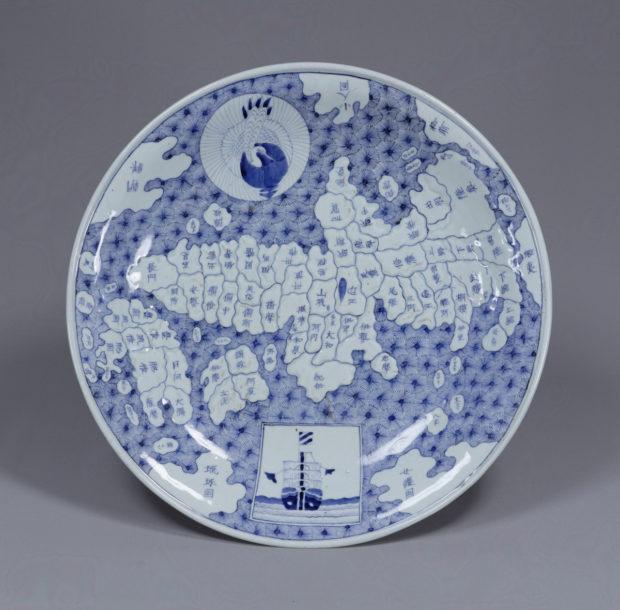 染付日本地図大皿